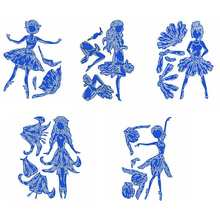 Dancing Flower Fairy Pretty Girls Metal Cutting Dies Scrapbooking For Card Album Making Template Stencil Embossing New 2019