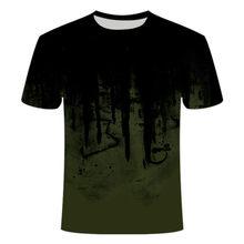 La nueva camiseta con imagen de camuflaje, adecuada para ropa deportiva al aire libre para hombres y mujeres,