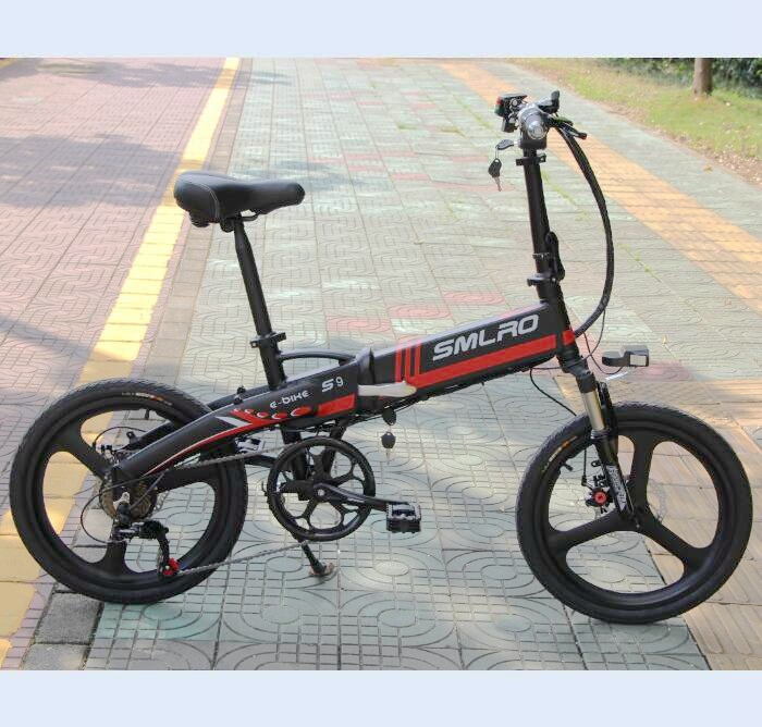 s9 ON SALE September Big sale City Bike Aluminum alloy 6061 Foldable Frame 20 inch electric bicycle 4
