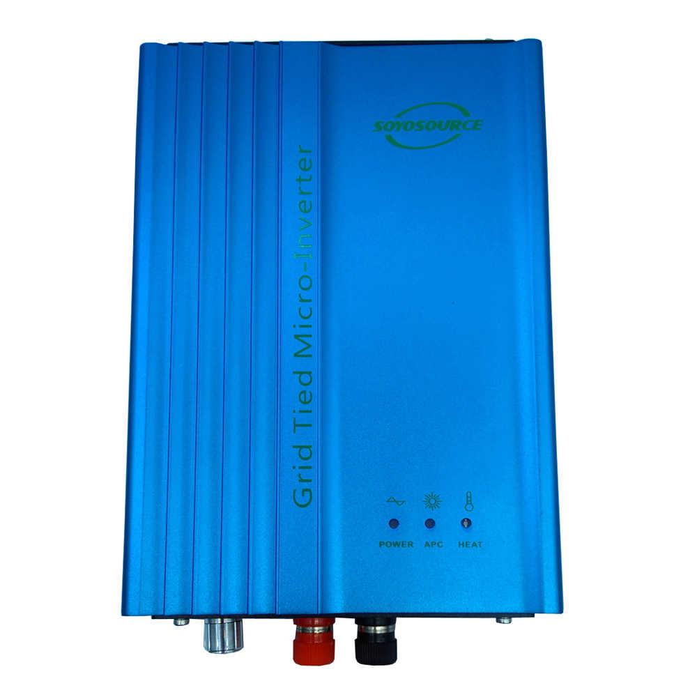 Onda senoidal pura solar do inversor mppt do laço da grade de 500w micro, modo de energia ajustável da descarga da bateria 12v 24v 36v 48v