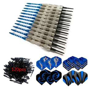 Soft-Tip Darts Flights Shafts Indoor-Games 12pcs/Set with for Electronic Party-Bar Outdoor