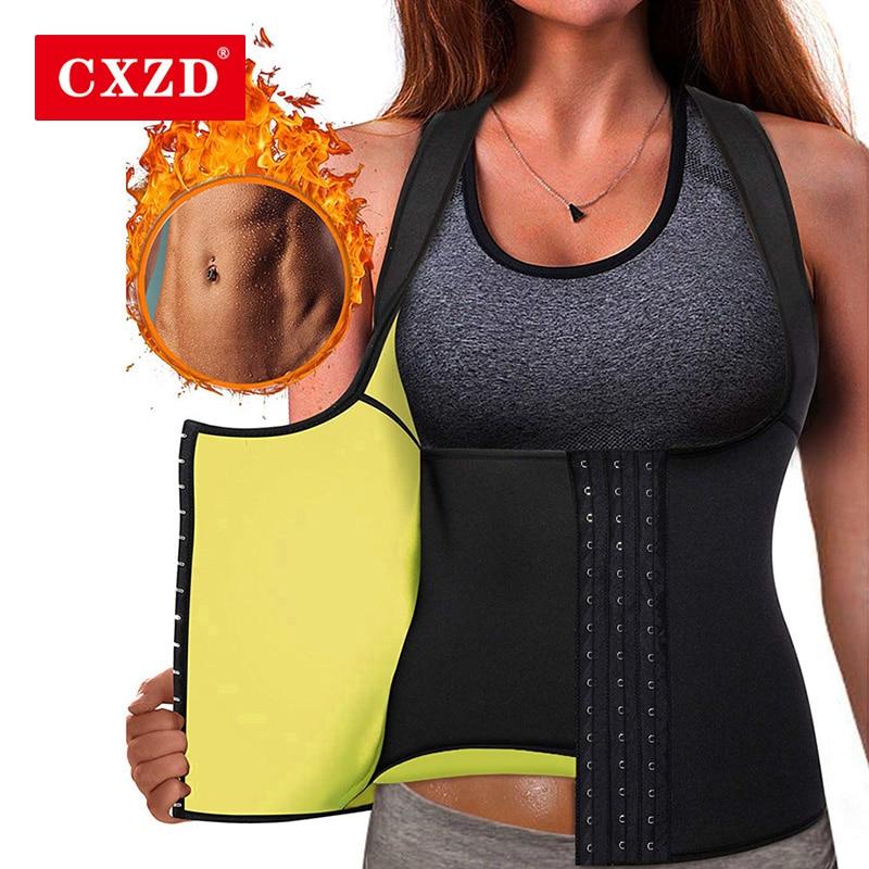 CXZD Women Hot Sweat Neoprene Sauna Vest For Weight Loss Tummy Fat Burner Slimming Shapewear Hot Thermo Body Shaper Sweat Top
