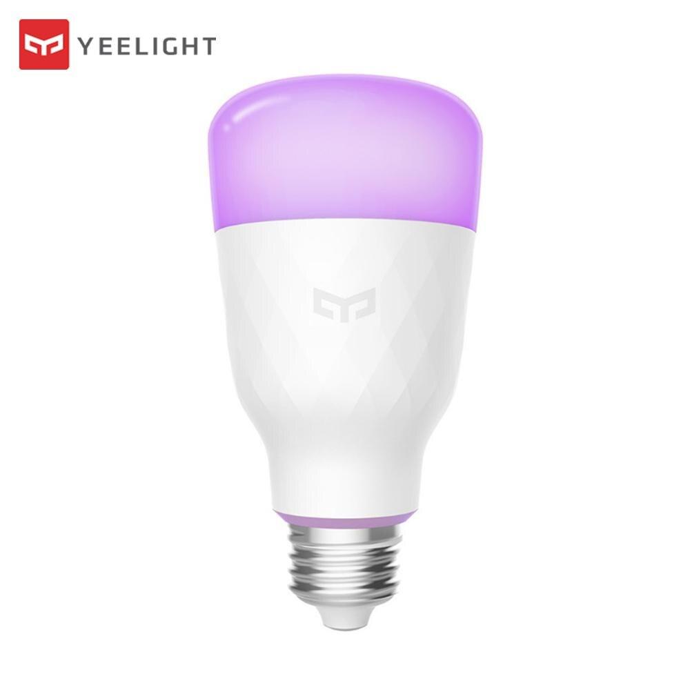 Update Version New Xiaomi Yeelight Smart LED Bulb Colorful 800 Lumens 10W E27 Lemon Smart RGB Bulb For Xiaomi Mijia App