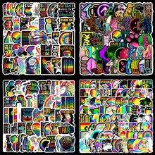 Mix renkli gökkuşağı sevimli çıkartmalar dizüstü kırtasiye zanaat malzemeleri Scrapbooking malzeme Vintage çıkartmalar estetik