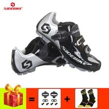 цена SIDEBIKE mountain bike shoes men sapatilha ciclismo mtb cycling sneakers women self-locking breathable racing bike bicycle shoes онлайн в 2017 году