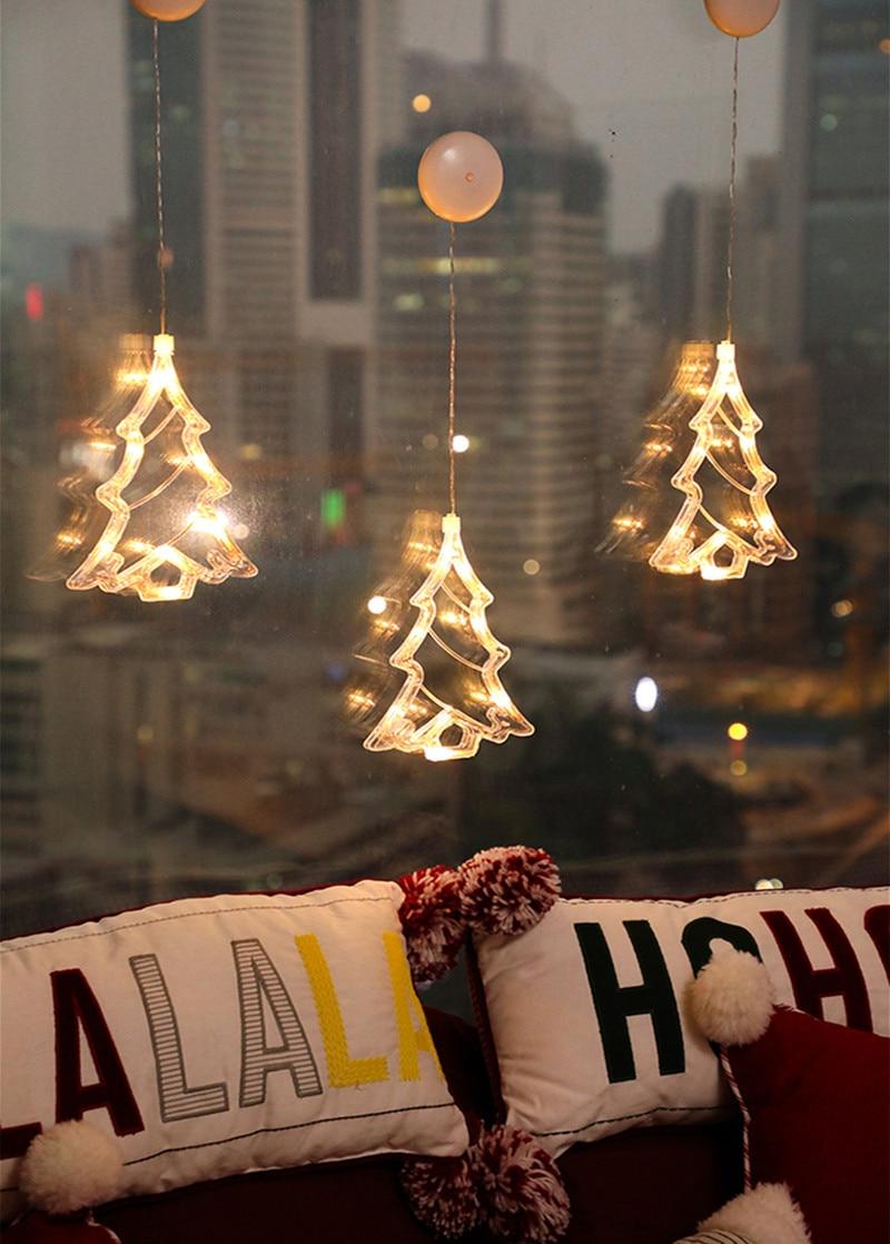 Ornamentos de natal pendurado luz led decoração
