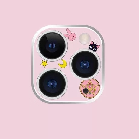 Sailor Moon Action Figure Camera Lens Sticker Screen Protective Tempered Glass For IPhone 11 Pro/ Pro Max Back Camera Protector