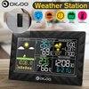 DIGOO – Station météo colorée avec capteur à distance, thermomètre et hygromètre, affichage du lever et du coucher du soleil