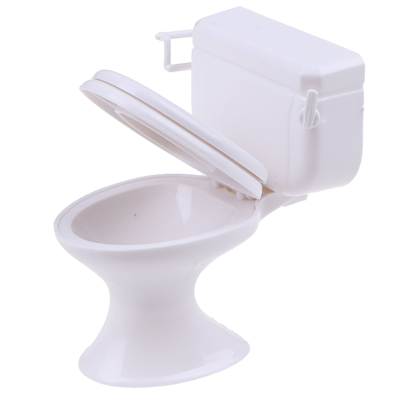 Vintage Bathroom Toilet Miniature Toys Dolls Accessories Baby Pretend Toys Dolls Dollhouse Furniture  Accessories