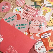 40 pièces/lot ours Biscuit série décor autocollants Scrapbooking bâton étiquette journal Album autocollants Kawaii papeterie jouet autocollants cadeau(China)