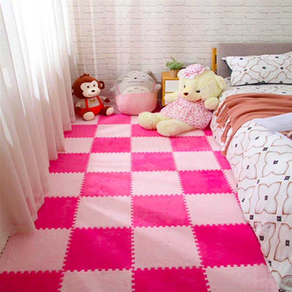 10Pcs/Lot Kids Carpet Plush Baby Play Mat For Children EVA Foam Developing Mat Puzzle Kids Soft Floor Rug Game Crawling Playmat
