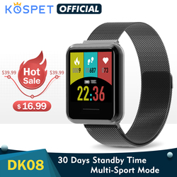 New DK08 Smartwatch Men Fashion Smart Clock Fitness Tracker Waterproof Bluetooth Heart Rate Monitor Band For IOS Android Xiaomi