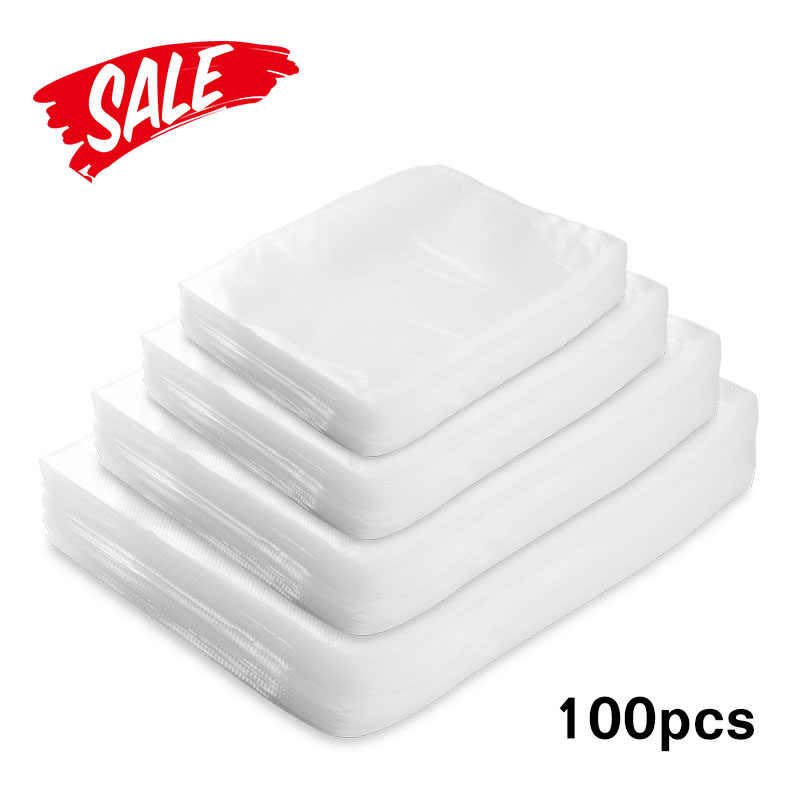 100pcs/lot Kitchen Food Vacuum Sealer Packaging Bag Vacuum Plastic Bag Food Storage Bags home Vacuum Sealer Kitchen Accessories