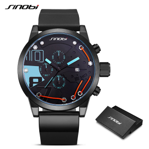 Image 2 - 2020 Metal Wire Top Brand Multifunction Full Steel Quartz Clock Sinobi Racing Sport Men Chronograph Watch Male Relogio Masculino