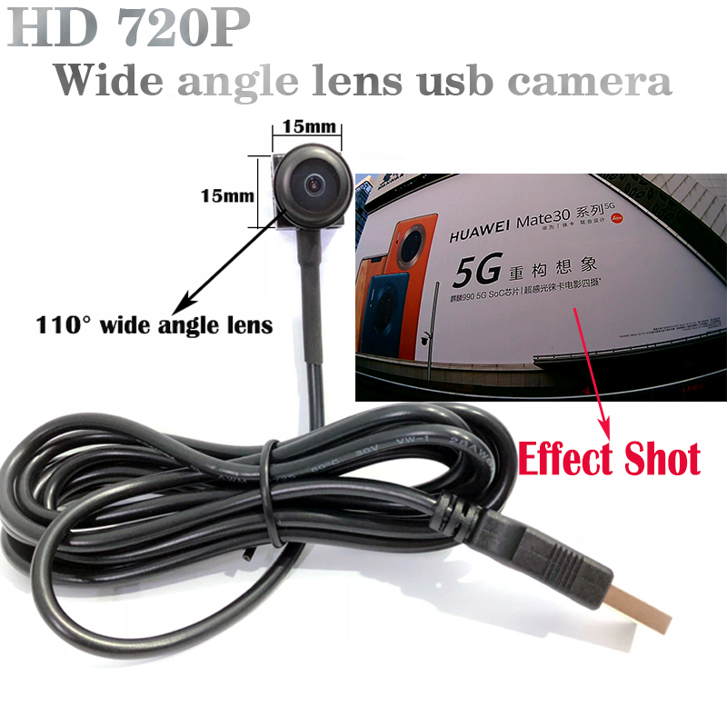 HD 720P Wide Angle USB Camera With 2.8mm Lens wide angle uvc camera usb camera mini Surveillance UVC pcweb camera windows camera