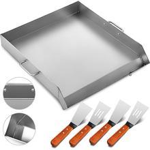 """3"""" x 17"""" сковородка из нержавеющей стали плоский высококлассный гриль для тройной сковородки кухонная утварь"""