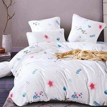 YAXINLAN bedding set Pure cotton Pure color A B double-sided pattern Cartoon Simplicity Bed sheet quilt cover pillowcase 4-7pcs cheap None Bedspread Coverlet Sets Polyester Cotton 1 35m (4 5 feet) 1 5m (5 feet) 1 8m (6 feet) 2 0m (6 6 feet) 2 2m (7 feet)