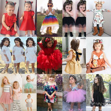 Baby Girl Tops Bow Dresses Kids Lace Ball Gown Tutu Party Dress Sundress Kids Baby Girls Toddler Princess Clothing 2T-7T baby girls summer dresses casual cotton kids bow lace ball gown princess dress children clothes