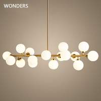 Modern LED Chandelier Light Fitting 16 LED Lights Bubble Chandelier Restaurant study Pendant Suspension Drop Lighting