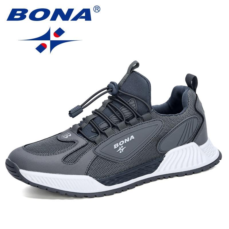 BONA 2020 New Style Mesh Running Shoes Men Outdoor Jogging Walking Sneakers Man Trendy Shoes Masculino Zapatillas Hombre