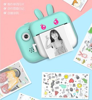 Children's Camera Instant Print For Kids 1080P HD Video Photo Digital with Thermal Paper Cute Child - discount item  3% OFF Camera & Photo