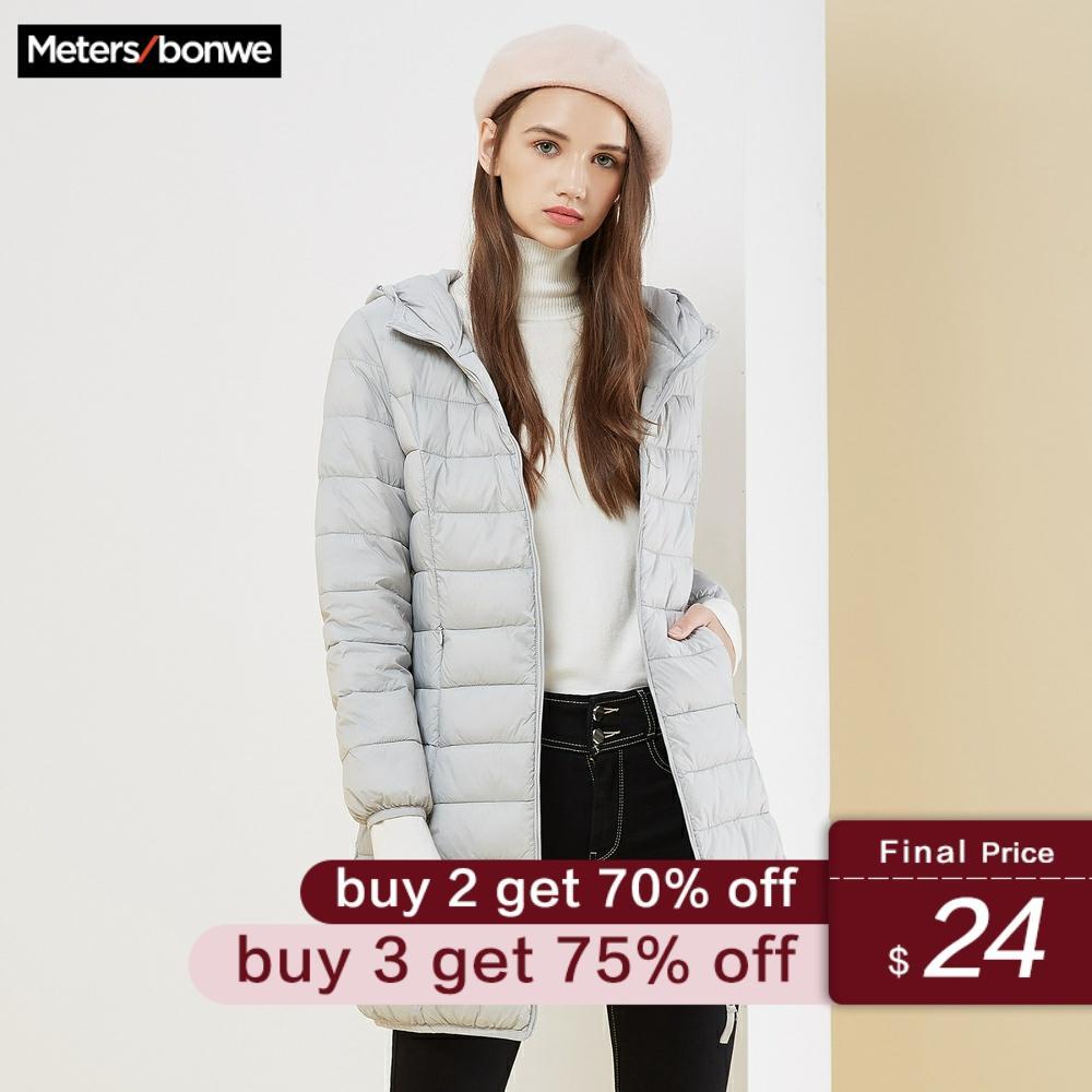 Metersbonwe Winter Women Long   Down     Coat   Fashion Female Long Jacket Warm   Down   Jacket Casual Women Cotton clothing
