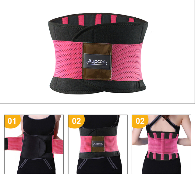 AUPCON Sweat Belt for Men & Women Sport Shapewear,Waist Trimmer Waist Trainer Sport Fitness Weight Loss Burning Fat Body Buildin 3