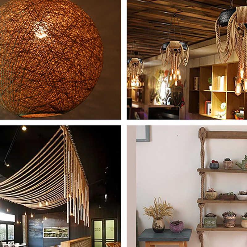 編組装飾麻ロープ Diy 手作り家の装飾アクセサリータグストラップ織ジュートロープ