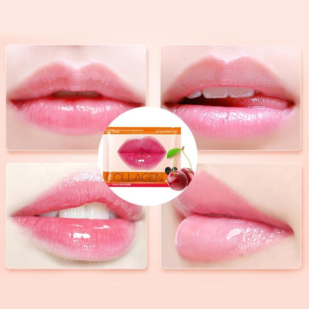 Crystal Collagen Lip Plumper Mask Honey Lip Mask Pads Enhancer Patch Care Aging Anti Gel Lips Scrub Wrinkle Moisture H6O0 5