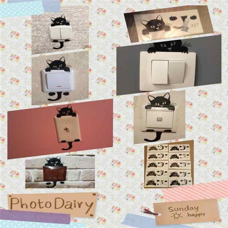 1/5 stücke Wand Schalter Aufkleber PVC Nette Katze Licht Tür Wohnkultur Aufkleber Lustige Kunst Wandbild Baby Kinderzimmer Schlafzimmer wohnzimmer