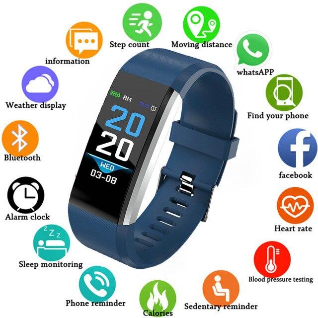 Color Touch New ID115 Plus Watches Kids Digital Running Sport Watch For Boys Girls Men Women Electronic Sport Bracelet Clock