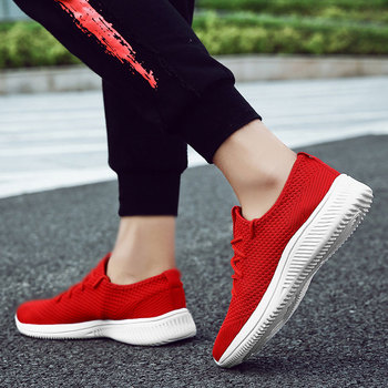 Men Zapatilla Hombre Hard Wearing Breathable Leisure Walking Shoes Knitting Casual Shoes For Men Flat Men Shoes S3761-S3780