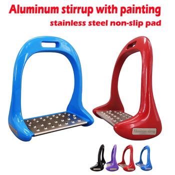 1 Pair Thickened Saddle Durable Equestrian Safety Anti Slip Aluminium Alloy Treads Supplies Outdoor Sports Horse Stirrups Pedal