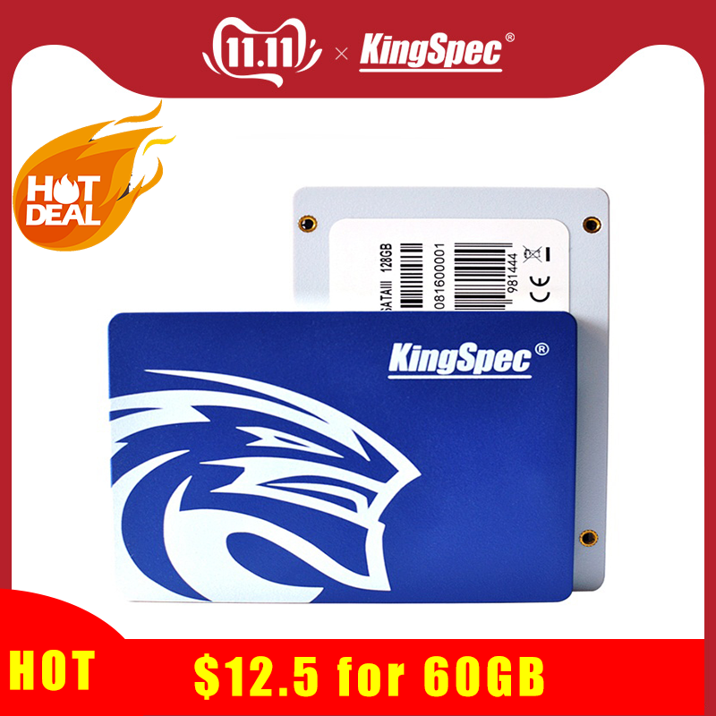 Cheapest KingSpec Ssd Hdd 2.5 Solid State Drive SATA Sata3 60GB SSD Blue Hard Disk For ASUS Laptop Notebook Computer Mini Pc