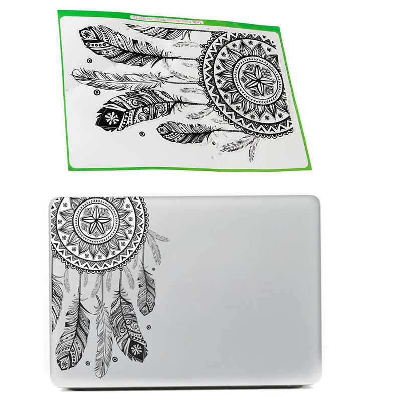 Retro Dream Catcher Sticker For Laptop Computer Tablet PC Notebook Stickers Flower Pattern PVC Stickers Cars Decal Home Decor