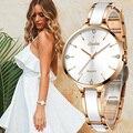 SUNKTA, женские керамические часы, женские простые часы с бриллиантами, повседневные модные часы, спортивные водонепроницаемые наручные часы, ...