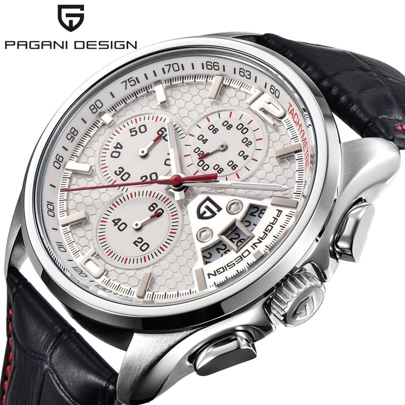 PAGANI DESIGN PD 3306 Men Quartz Watches Luxury Fashion Timed Movement Military Watches Leather Quartz Watches Relogio Masculino