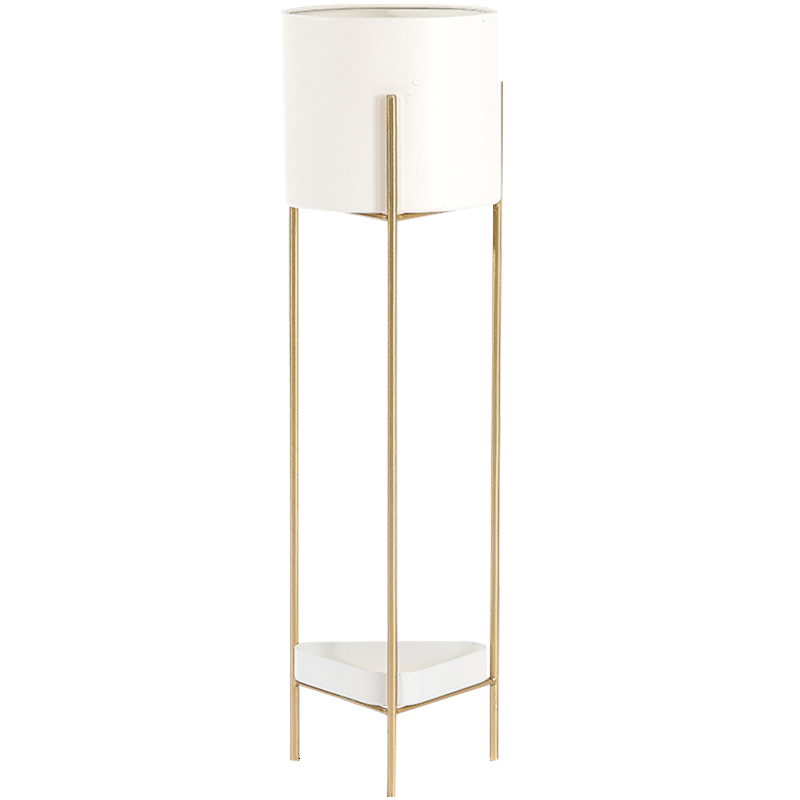 Light Luxury Iron Art Metal Flower Airs Flowerpot Frame  Indoor Landing Type Balcony  Multi-storey Shelf