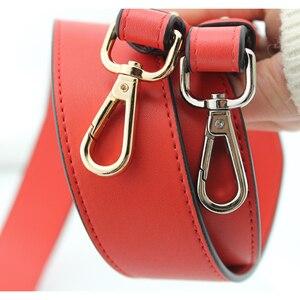 Image 5 - Genuine Leather Wide Shoulder Strap Brand Luxury Bag Strap Solid Color Adjustable Length 100cm 120cm  Women Bag Accessories