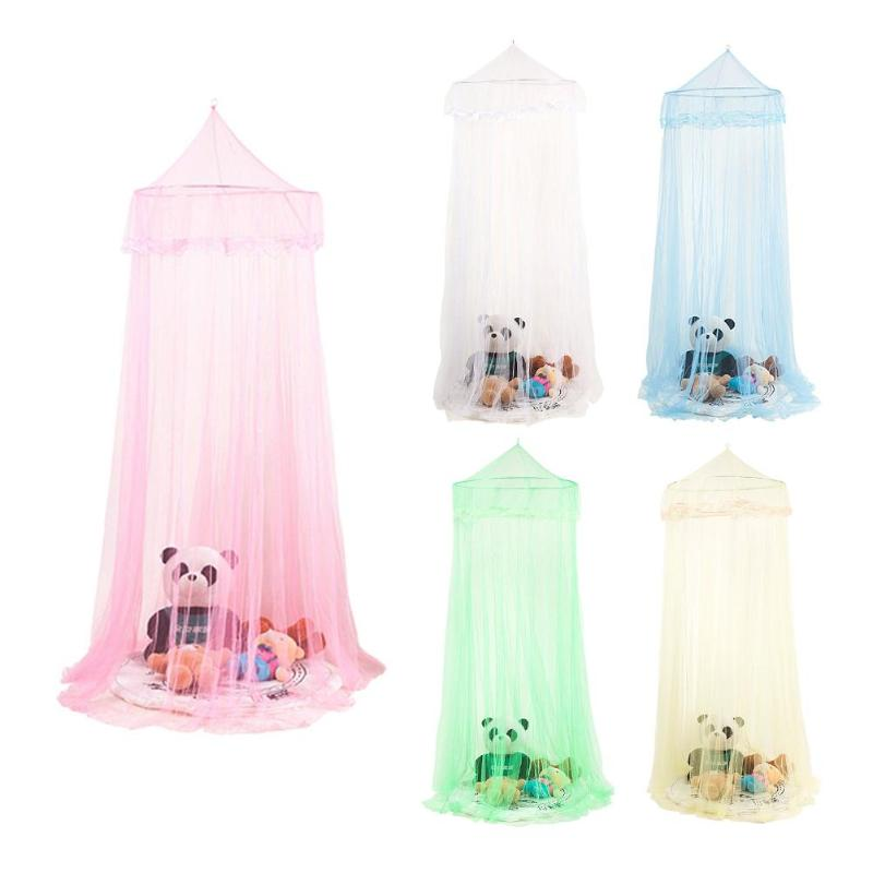 Simple Hanging Canopy Kid Baby Bed Mosquito Net Dome Playing Floor Bedcover
