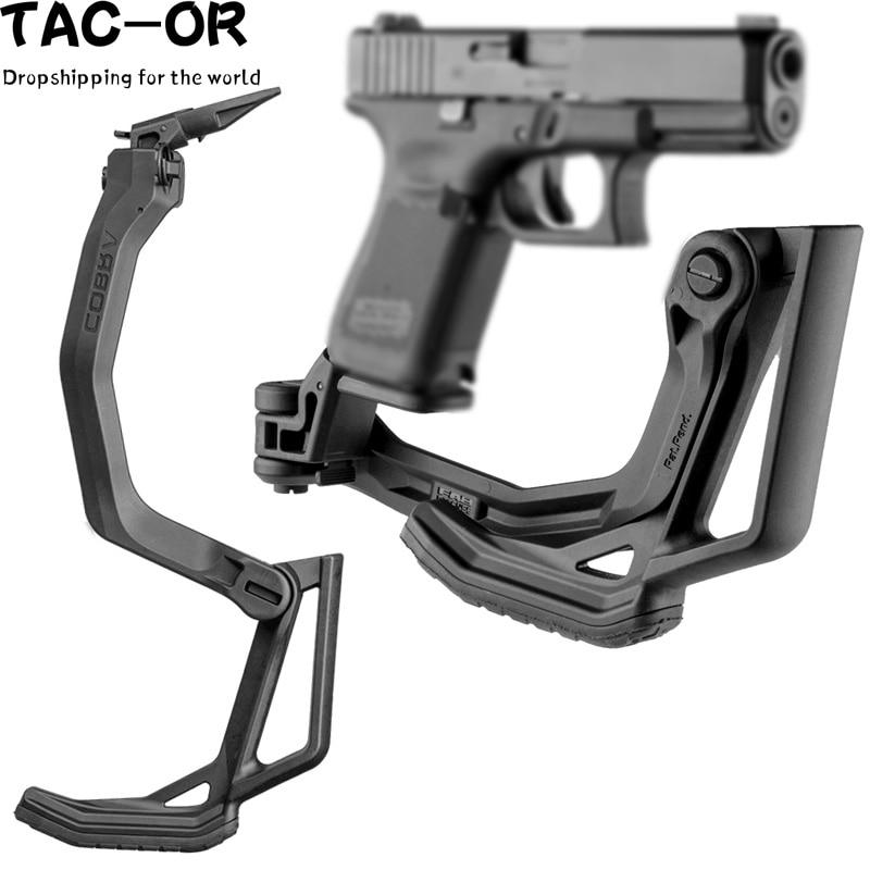 Tactical Foldable Pistol  Stock Folding Buttstock Handgun Shoulder Stock For Glock 17 19 19x 18 22 23 31 32 34 35 45 GEN 2 3 4 5