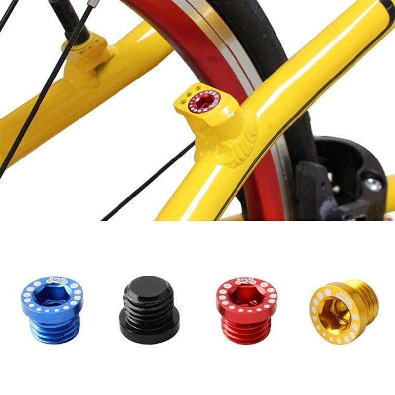 4PCS Mountain Bike Brake Screw Nut Aluminum Alloy V Brake Screw M10 Ultra-light Installation Head Cap Bolts Nuts Turn Buckle
