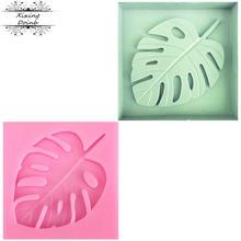 Форма «сделай сам» из силикагеля в форме листа мягкая форма