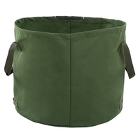 Portable Canvas Yard Waste Bag Garden Lawn Leaf Bags Containers Outdoor Carrier Bag Environmental Canvas Bag Plant Cages & Supports     -