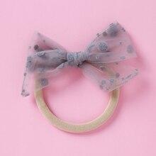 Ins Baby Bows Headbands Girls Fashion Hair Accessories for Newborn Thin Nylon Turban