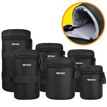 6 boyutu su geçirmez kamera Lens kalın yastıklı çanta Case kılıfı koruyucu bel kemeri tutucu Canon Nikon için Tamron Sigma Sony lens