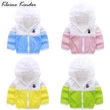 Windbreaker Uv-Protection for Boy Baby Jacket Kids Hooded Children's Sun-Clothing Girls