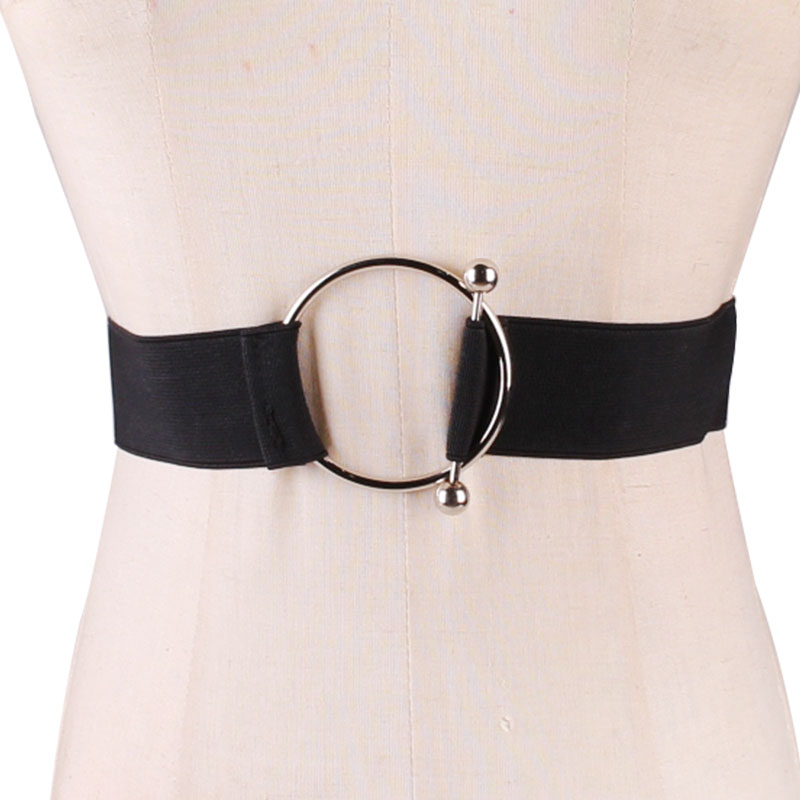 Black Contracted Waist Sealing Stretch Elastic Woman Belt Width Decorate Collocate Skirt