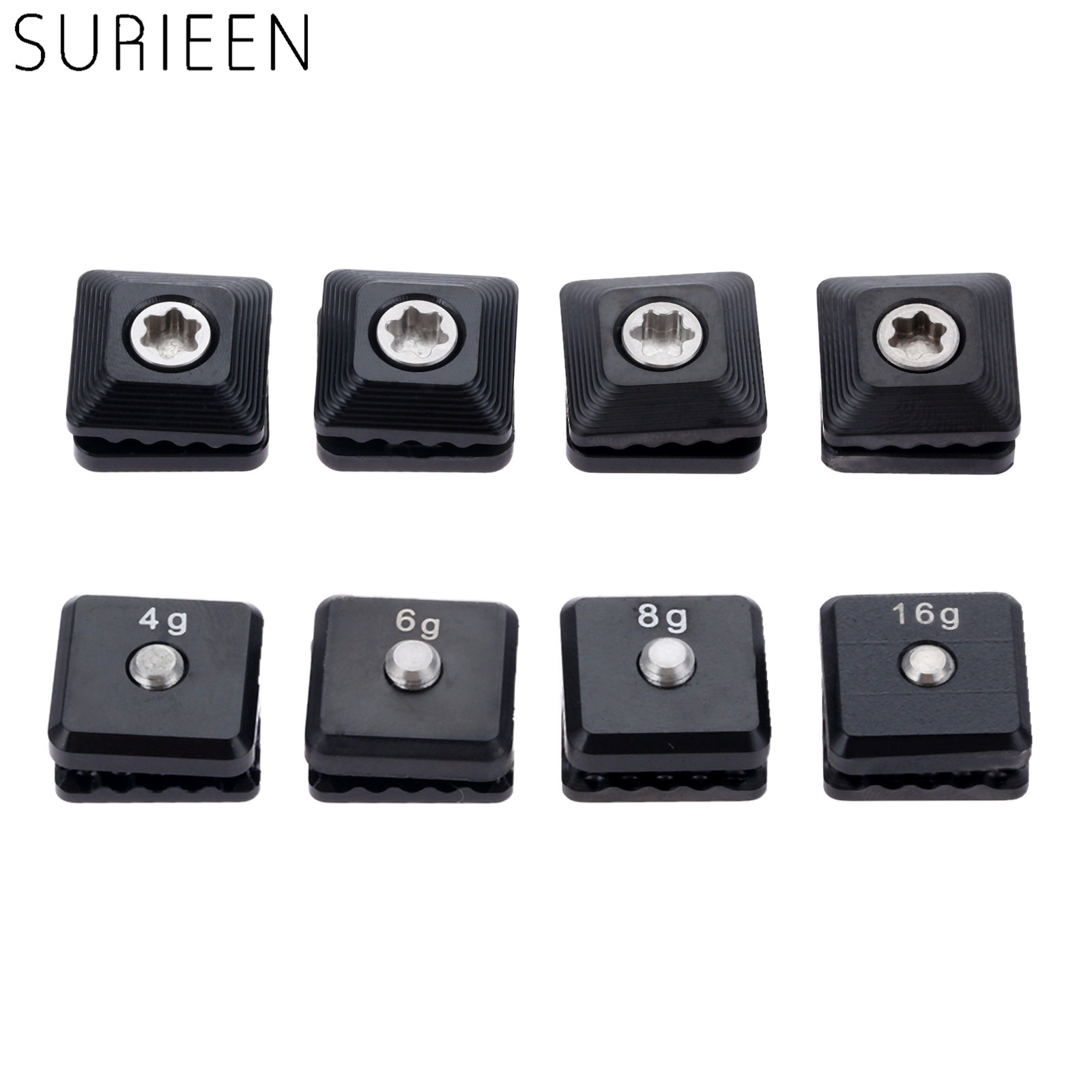 SURIEEN 4Pcs Alloy Golf Weight Screw Replacement For Taylormade M5 Driver Head Club Heads Accessories 4g 6g 7g 8g 11g 12g 16g
