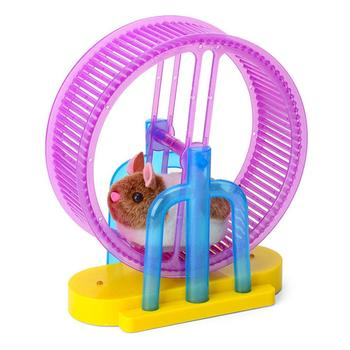 Hamster Roller Electric Toy Led Light Plush Hamster Runner Running Cage Ball New Strange Led Light Music Hamster Wheel 4